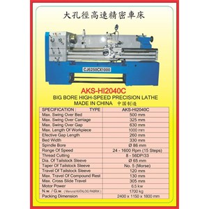 MESIN BUBUT Gear Head Lathe HI2040C