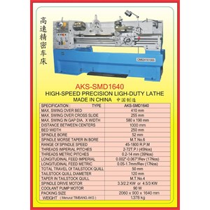 MESIN BUBUT Gear Head Lathe SMD1640