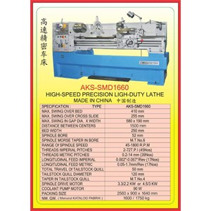 MESIN BUBUT Gear Head Lathe SMD1660