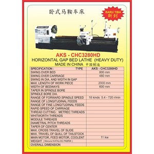 MESIN BUBUT Heavy Duty Horizontal Lathe CHC3280HD