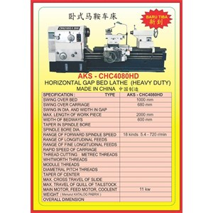 MESIN BUBUT Heavy Duty Horizontal Lathe CHC4080HD