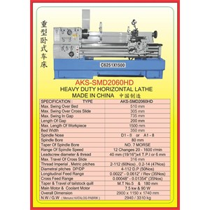 MESIN BUBUT Heavy Duty Horizontal Lathe SMD2060HD