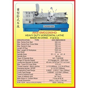MESIN BUBUT Heavy Duty Horizontal Lathe SMD2260HD