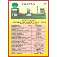 MESIN BUBUT Heavy Duty Horizontal Lathe TI2580HD