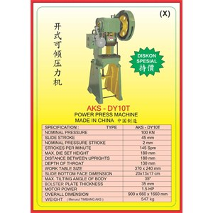 MESIN PRESS Power Press DY10T