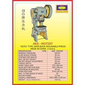 MESIN PRESS Power Press WOT25T
