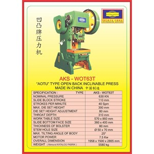 MESIN PRESS Power Press WOT63T