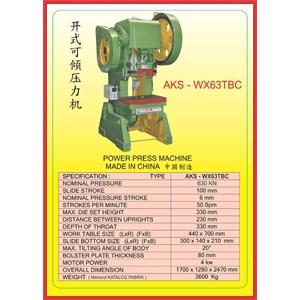 MESIN PRESS Power Press WX63TBC