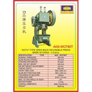 MESIN PRESS Power Press WOT80T