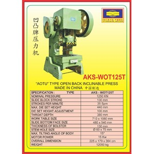 MESIN PRESS Power Press WOT125T