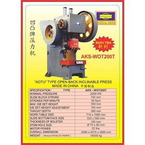 MESIN PRESS Power Press WOT200T