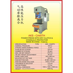 MESIN PRESS Power Press Hydraulic Protector CA45TH