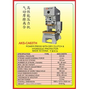 MESIN PRESS Power Press Hydraulic Protector CA63TH