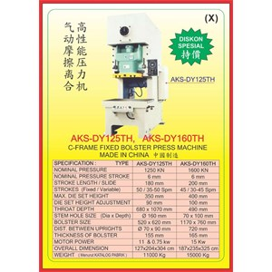 MESIN PRESS Power Press Hydraulic Protector DY125TH