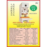 MESIN PRESS Power Press Hydraulic Protector YZ80TH 1