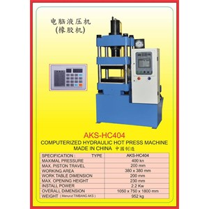 MESIN PRESS Hydraulic Hot Press HC404