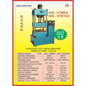 MESIN PRESS Hydraulic Hot Press HTM804