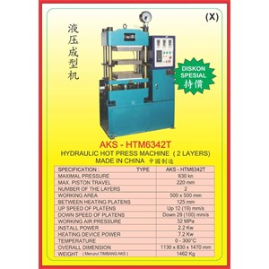 MESIN PRESS Hydraulic Hot Press HTM6342T