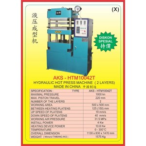 MESIN PRESS Hydraulic Hot Press HTM10042T