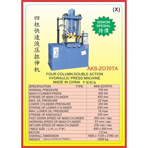 MESIN PRESS Four Column Double Action Press ZO70TA