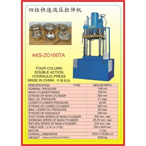 MESIN PRESS Four Column Double Action Press ZO100TA