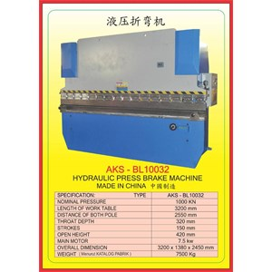 Mesin Press Press Brake BL10032