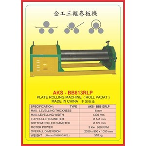 ALAT ALAT MESIN Rolling Machine BB613RLP