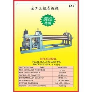 ALAT ALAT MESIN Rolling Machine NH4025RL