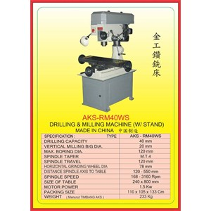 ALAT ALAT MESIN Drilling & Milling With Stand RM40WS