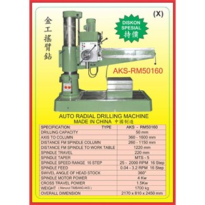 ALAT ALAT MESIN Radial Drilling Machine RM50160