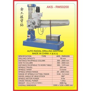 ALAT ALAT MESIN Radial Drilling Machine RM50200