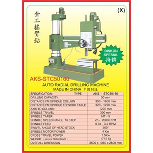 ALAT ALAT MESIN Radial Drilling Machine STC50160