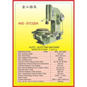 ALAT ALAT MESIN Slotting Machine STC320A