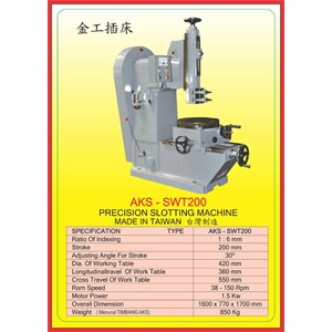 ALAT ALAT MESIN Slotting Machine SWT200