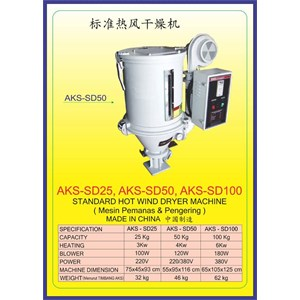 ALAT ALAT MESIN Hot Wind Dryer & Auto Suction SD25