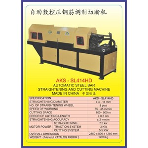 MESIN PEMOTONG BESI Steel Bar Straightening & Drawing SL414HD