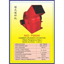 MESIN PEMECAH BATU Hammer Crusher PS6040