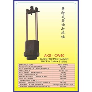 ALAT ALAT MESIN Guide Rod Pile Hammer CW40