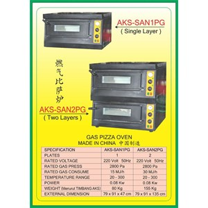 MESIN PEMANGGANG Gas Food Oven Series SAN1PG