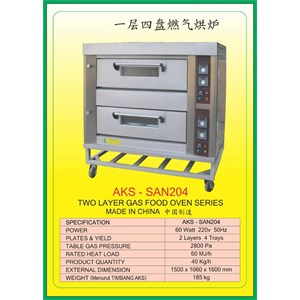MESIN PEMANGGANG Gas Food Oven Series SAN204
