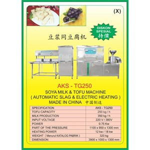 ALAT ALAT MESIN Tofu Machine TG250
