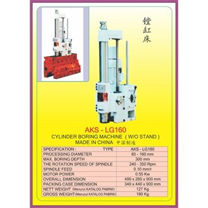Dari ALAT ALAT MESIN Cylinder Boring & Honing Machine LG160 0