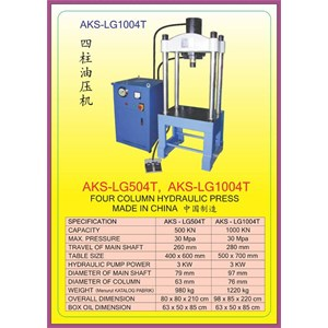 ALAT ALAT MESIN Four Collum Hydraulic Press LG504T