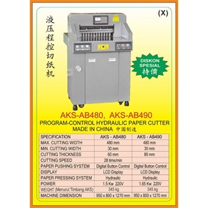 Alat Alat Mesin Paper Cutting Machine & Book Binding AB480