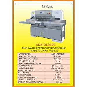 Alat Alat Mesin Paper Cutting Machine & Book Binding DL920C