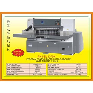 Alat Alat Mesin Paper Cutting Machine & Book Binding DL1370H