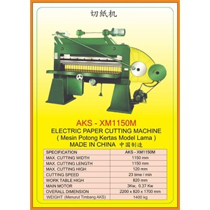 Alat Alat Mesin Paper Cutting Machine & Book Binding XM1150M