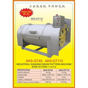 Alat Alat Mesin Industrial Washing Snow Pattern GT45