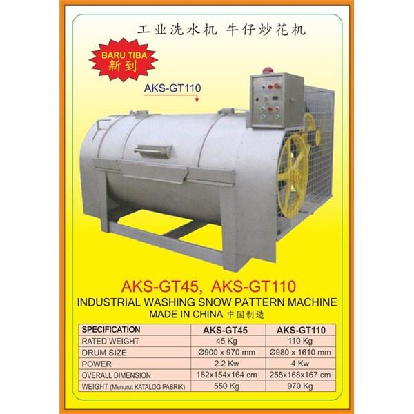 Alat Alat Mesin Industrial Washing Snow Pattern GT45