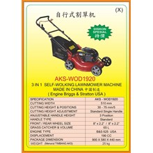 Alat Alat Mesin Walk Behing Lawnmower & Electric Sweeper WOD1920